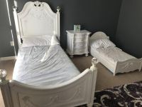 Princess Twin Girls Bedroom Set with Toddler Bed