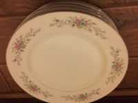 "Florenteen FANTASIA Fine China 10"" DINNER PLATE JAPAN Mid Century $4 each plate or $20 for all 7"