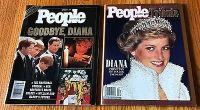Lot of 2 People Weekly Goodbye Diana, Sept., 22 1997 Fall 1997 Tribute to Princess of Wales