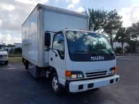 2005 Isuzu NPR 16FT TUCK AWAY LIFT + TOOL BOX (White)