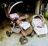 Graco fold & click stroller and baby carrier