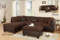 $529, 3pc Sectionals in 5 colors