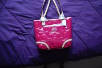 NWT AUTHENTIC COACH F22322 HOT PINK PATENT PEYTON CARRYALL PURSE TOTE