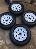 Trailer rims and tires