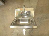 "Krowne HS-2L 16"" S/S Wall Mount Hand Sink RTR#8011029-01"