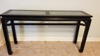 Glass Top Entry/Sofa Table