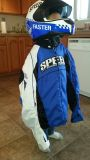 sport riding Speed and strength jacket and helmet