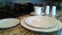 """Noritake Fine China """"Sterling Tide"""" 10-5pc complete settings-EXCELLENT"""