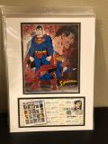 Superman 1st day issue stamp art