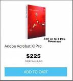 $225, Adobe Acrobat XI Professional Download Add up to 5 PCs