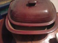 """""""Pampered Chef"""" Oval covered baker"""