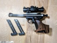 For Sale: RUGER MARK III 22/45 HUNTER COMPETION 22 LR TARGET PISTOL WITH ULTRADOT MATCH II SCOPE & MORE