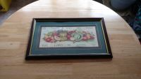 """Wood framed picture measures 21"""" by 12 1/2"""""""