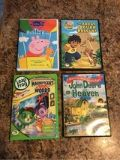 Set of 4 kids DVD, Peppa, Diego,Leap Frog and John Deere
