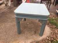 SQUARE TURQUOISE SIDE TABLE