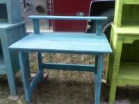 Reduced! Distressed turquoise desk