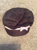 Koala Baby brown hat with pink ribbon - size 12 months