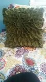 Cute SQUARE GREEN FLOWER PILLOW