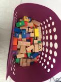 Approx 100 wood blocks. $6. Comes with basket.