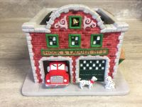 PartyLite Christmas Village Fire Station. CP.