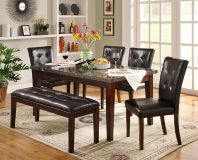$499, DECATUR BLACK REAL MARBLE kitchen dining table set new in box