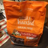 NEW whole hearted dog food