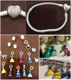 """GREAT Christmas Gift! 7"""" Authentic PANDORA Bracelet and Disney Charms"""