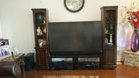 "TELEVISION 73"" Mitsubishi with End-Cabinets"