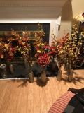10 vases with fall flowers