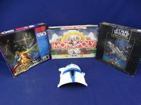 (2) Star Wars Puzzles & Monopoly