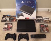 PS3 500gb console with controllers and games