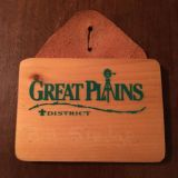 Vintage Boy Scouts wood and leather name tag