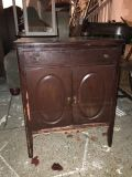 Antique cabinet with drawer