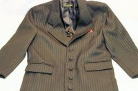 Gray Suit Coat Blazer Pin Stripe size 4 Boy's Children Kid's Pants Suit Shirt