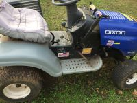 Riding lawn tractor/mower with deck.