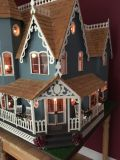 Victorian dollhouse with furniture