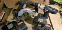 Ryobi 18V skil saw and 18 volt hand drill two Chargers and two batteries
