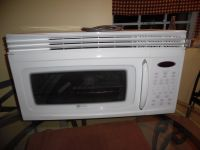 Maytag Convection Microwave Oven over the stove
