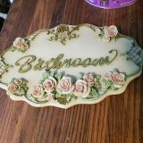 Shabby plaque no chips