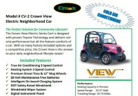 CROWN GOLF CARTS #1 ELECTRIC CART A/C & SOUND SYSTEM
