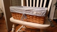 Nautica Kids basket w/removable fabric liner. See additional pic for small flaw on back of basket. 10.5 wide x 14.5 length x 5.5 tall