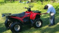 WTT my Kawasaki 400 4x4 4 wheeler for a PONTOON BOAT---WILL PAY CASH DIFFERENCE