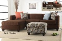 $399, 2pc Chocolate Sectionals Reversible