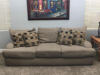 Large couch w/loveseat and throw pillows