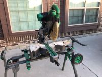 12 dual compound sliding mitre saw and stand