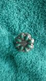 Harley Davidson Turquoise and Silver Flower Ring