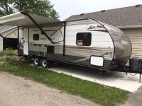 2014 Grey Wolf camper and toy hauler.