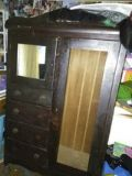 antique 1920s chiffaribe/wardrobe