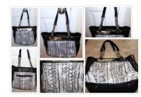 **(Jennifer Lopez) Snakeskin Leather Tote Handbag**