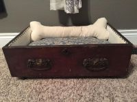 Dog bed antique Drawer with wheels